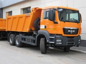 Доставка строительных материалов самосвалом MAN 20 м³