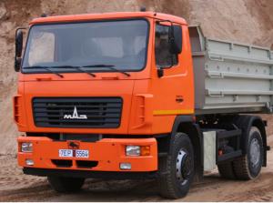 Доставка строительных материалов самосвалом МАЗ 10 м³