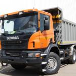 Доставка строительных материалов самосвалом Scania 18 м³